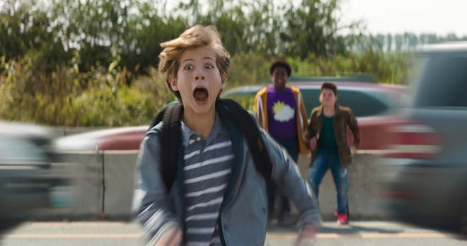 "Max (Jacob Tremblay) is up to no good in R-rated middle-school comedy ""Good Boys."""