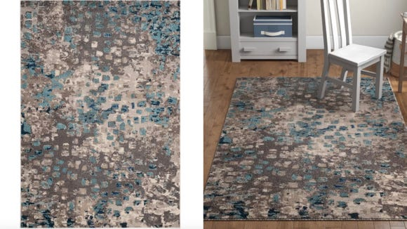 Want a rug that people will notice? This one will surely do the trick.