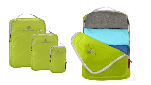 Organize your messy suitcase with this multi-pack of packing cubes.
