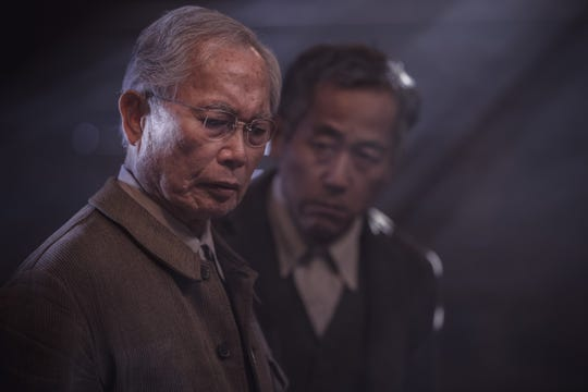 George Takei, left, plays former fishing captain and community elder Yamato-san, and Singo Usami plays Henry Nakayama, father of central character Chester, in AMC's 'The Terror: Infamy.'