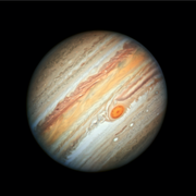 New Hubble Space Telescope images show in radiant colors Jupiter's Great Red Spot and its various bands in its atmosphere. The image was taken June 27, 2019.