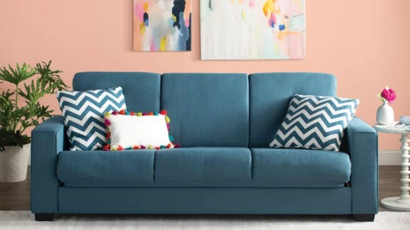 You'd never know this couch is actually kind of a futon.