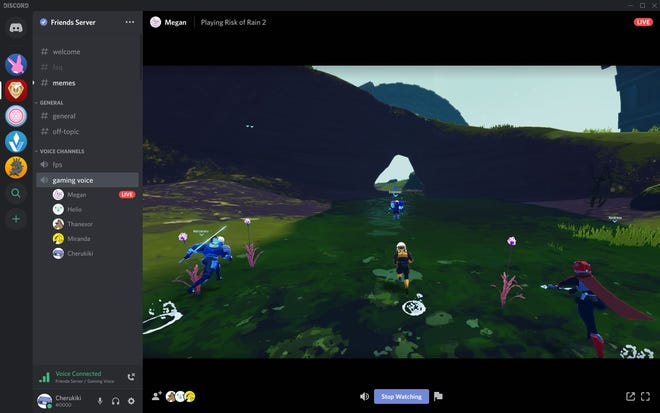 Online communications platform Discord will soon let video gamers stream game play to up to ten friends as part of its voice chat options.