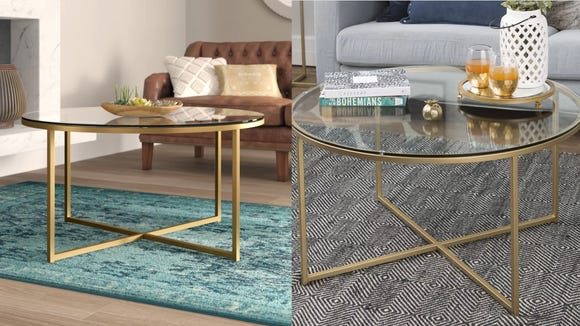 This coffee table looks way more expensive than it actually is.
