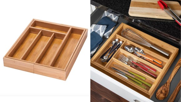 No need to measure—this drawer organizer is modular!