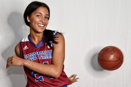 TL Hanna basketball player Maleia Bracone commits to Presbyterian College women's basketball in August 2019.