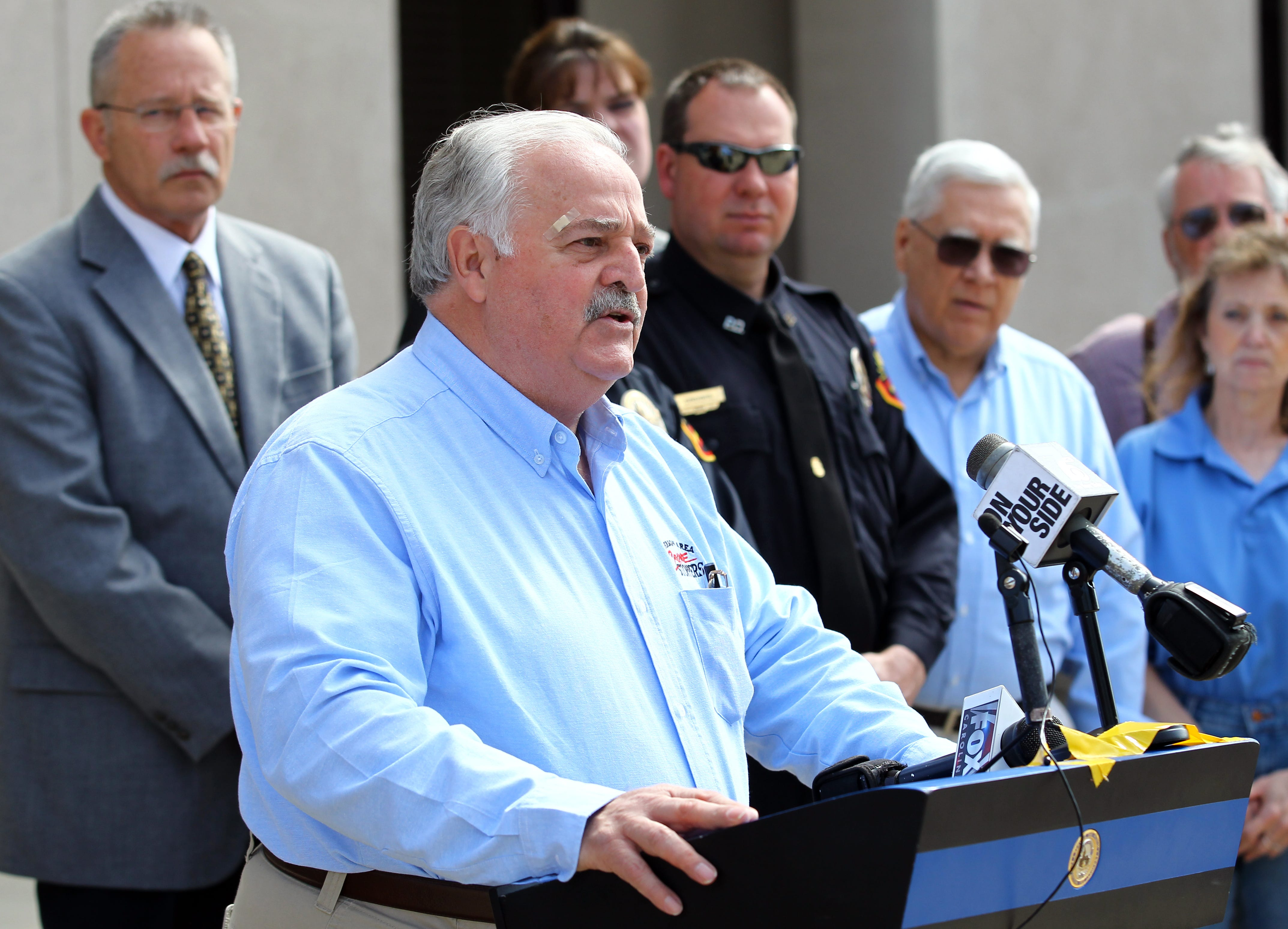 Kenny Caldwell, an Anderson Area Crime Stoppers founder, has