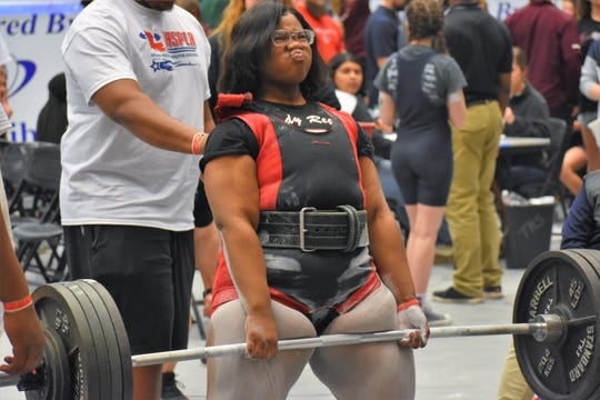 Pineville powerlifter Brionna Ford is one of three Lady Rebels that will compete for Team USA at the World Sub-Junior & Junior Powerlifting Championships in Canada from Aug. 26-31.