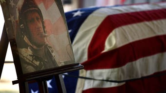 U.S. Air Force Col. Roy Knight Jr. was buried in Cool, Texas 52 years after being shot down over Laos.