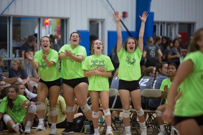 The eighth annual Mountain Bash volleyball scrimmage was held at Xcel Sportsplex in Fletcher on Aug. 10, 2019.  The preseason scrimmage boasted 47 varsity and junior varsity teams representing 26 schools.