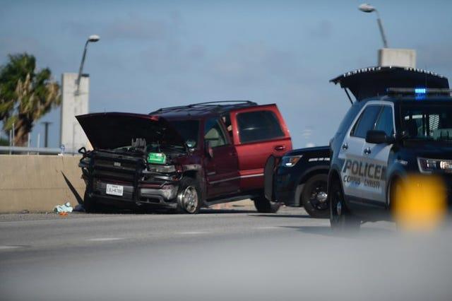 Corpus Christi police: Car crash on SPID forces lane