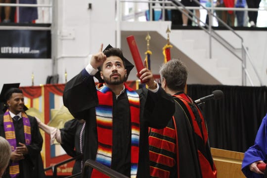 Juan Jose Escobales III at Austin Peay State University's Summer Commencement Exercises on Friday, Aug. 9, 2019.