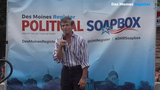 Joe Sestak, a former U.S. representative and retired vice admiral in the U.S. Navy, speaks at the Register's Political Soapbox on Saturday, Aug. 10, 2019.
