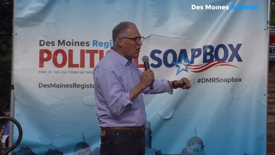 Jay Inslee at the Register Soapbox: 'When I think of the climate crisis, I think of Iowa'