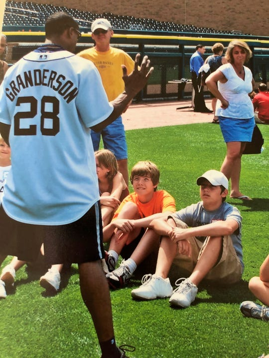 Growing up in Rockwood, John Schreiber made plenty of visits to Comerica Park, including a kids camp in 2007 when he met then-Tigers outfielder Curtis Granderson.