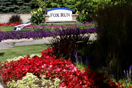 Fox Run, a senior independent living community in Novi, Mich. features landscapes entrance with a guard gate, photographed on Saturday, Aug. 10, 2019.