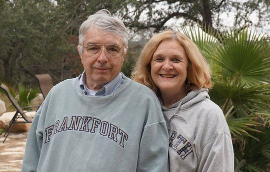 Former Detroit News power couple: George Bullard and his wife Sue Burzynski Bullard,  in 2014.