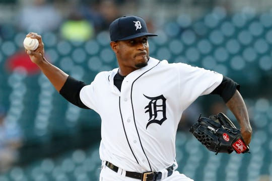 Tigers starting pitcher Edwin Jackson scattered four hits in 6.1 innings in Friday's 5-2 win over the Royals.