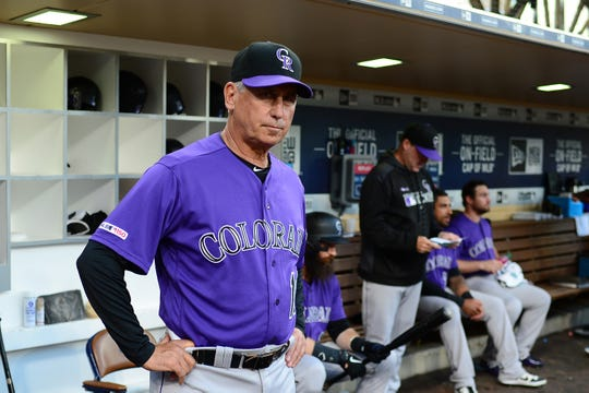The Colorado Rockies play at San Diego on Sunday.