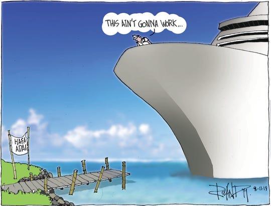 Sunday cartoon on cruise industry