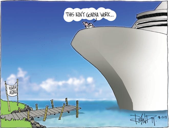 Sunday cartoon on cruise industry