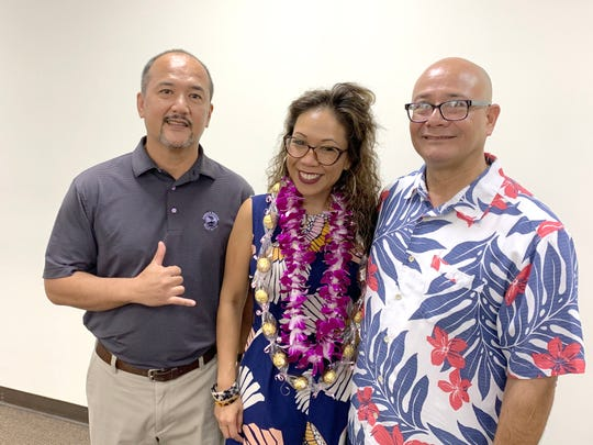 From left: Jeffrey Sablan, fair employment administrator, Guam Department of Labor; Glory Gervacio Saure, director, Equal Employment Opportunity Commission in Hawaii; and Gerard Toves, deputy director, Guam Department of Labor.