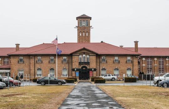 Entrance of the Pendleton Correctional Facility in Pendleton, Indiana.