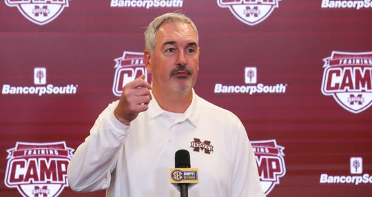 Mississippi State conducted Media Day on Saturday, August 10, 2019 at the Leo Seal Complex. Photo by Keith Warren