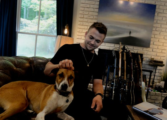 Country music singer Hunter Hayes at his home on Friday, August 9, 2019, in Nashville, Tenn. Hayes, after releasing his multi-platinum debut album in 2011, has been working on a highly anticipated new project.
