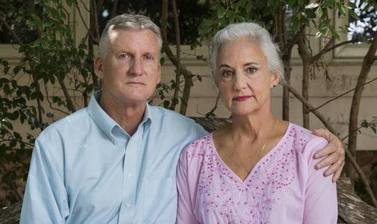 Debra and Marc Tice, parents of Austin Tice, a freelance journalist who was seized in Syria in 2012 and will turn 38 tomorrow.