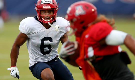 Arizona safety Scottie Young Jr. switched to a new jersey number — from 19 to 6 — as a symbol of his personal growth.