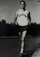 University of Arizona track athlete George Young, who went on to compete in four Olympics.