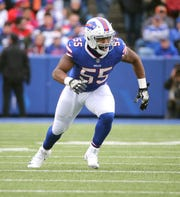 Jerry Hughes was questionable with a groin injury, but he will play Sunday against the Dolphins.