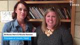 Nikki Hansen and BriAnne Hern introduce configuration of Talahi serving prekindergarten to second grade and Lincoln serving third-fifth grades.