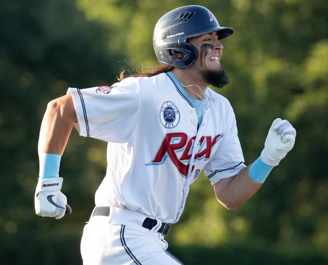 Garett Delano leads the Rox in home runs with eight this season. He said the Rox need to relax as they enter the final stretch of the regular season.