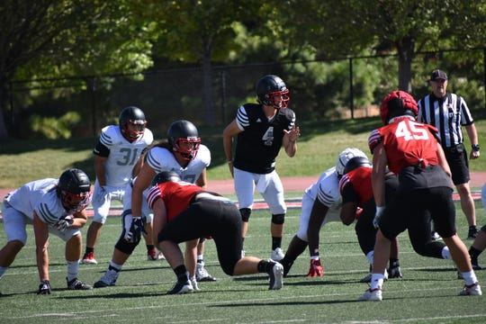 SUU participates in its first padded scrimmage of fall camp on August 10, 2019.