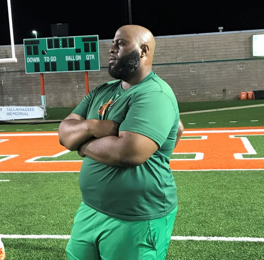 FAMU offensive line coach Alex Jackson is pushing his linemen on a pursuit of perfection in the run and pass blocking.