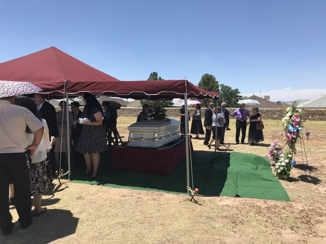 The Jamrowski family including parents of Jordan Anchondo had her services on Saturday at the Evergreen Cemetery on the East Side.