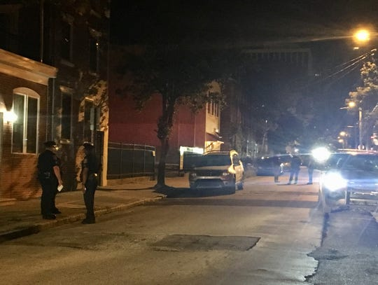 Wilmington Police investigate a shooting early Saturday morning on Tatnall Street. Police say a 17-year-old was shot around 1 a.m.