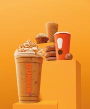 Dunkin' has announced that its fall menu, which includes pumpkin spice drinks, will return Aug. 21.