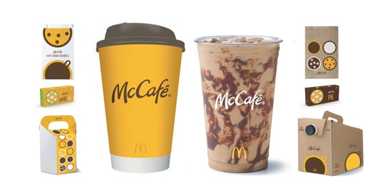 McDonald's McCafé is marking its 10th anniversary with a brand refresh.