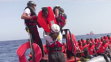 The Ocean Viking charity ship plucked 85 African migrants from the sea off Libya Friday, the latest rescue in the Mediterranean.