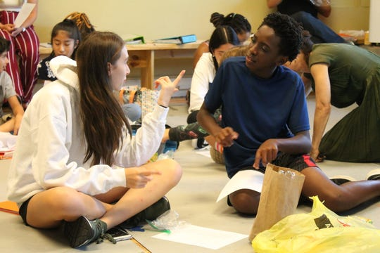 """Students in the Basie Summer Opera Camp prepare for their production of """"Then I Stood Up."""""""