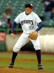 Brad Brach, now with the New York Mets, shown pitching for Monmouth University.