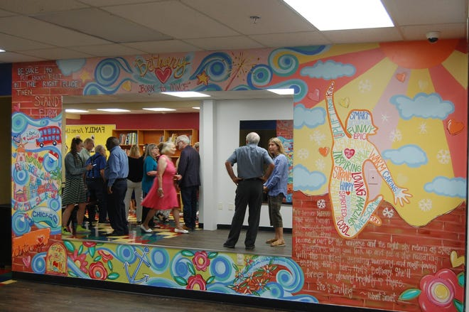 The Carver Community Organization dedicated Bethany's studio on Aug. 11, 2019. The space is dedicated to Bethany Schklar, a former teacher there who died in January. The studio features a mural by Dakri Sinclair, which memorializes Schklar's life and has words from her former students.