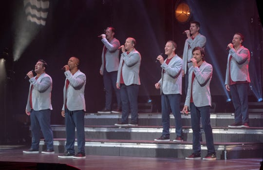 Straight No Chaser performs at Old National Center as a PBS special is filmed, Saturday, August 10, 2019.