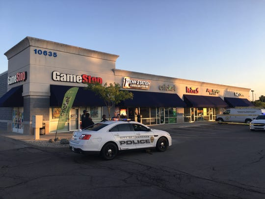 A fatal shooting occurred inside a Penn Station restaurant in this Lawrence, Indiana, strip mall on Aug. 10, 2019.