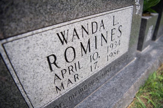 The grave of Wanda Romines sits in the Ridenour Cemetery in Andersonville. Romines and her daughter Sheila were tortured and killed March 17, 1986, by Ronnie Martin and Stephen Michael West. West was executed Thursday.