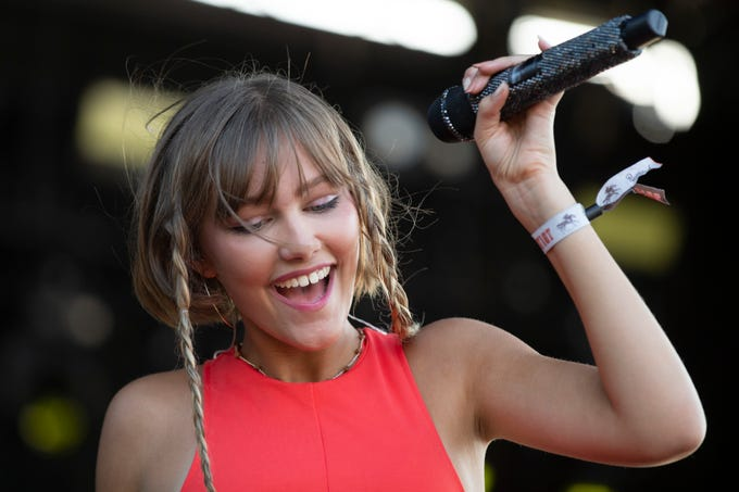 Grace Vanderwaal kicks off her tour with a performance on the Elkhorn Stage at the inaugural Railbird music festival at Keeneland on Saturday. Aug. 10, 2019