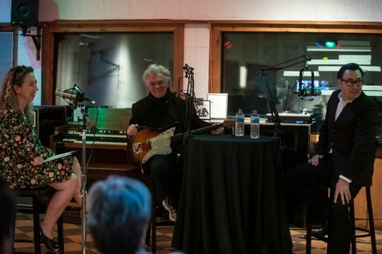 Photo taken on the set of the Country Mile podcast with Marty Stuart and Chris Scruggs at RCA Studio B Friday, August 9, 2019.